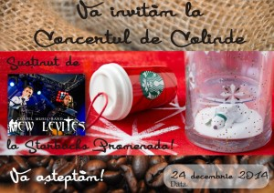 Afis Craciun Starbucks - New Levites 2014