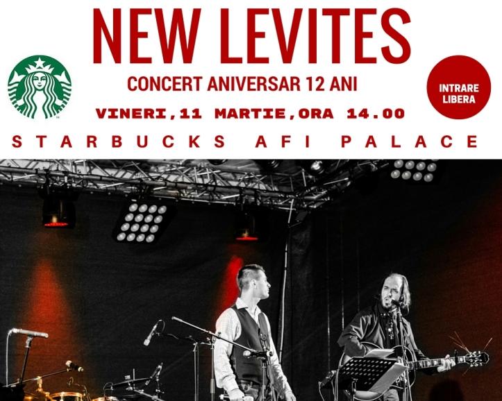 Afis Starbucks AFI concert 12 ani